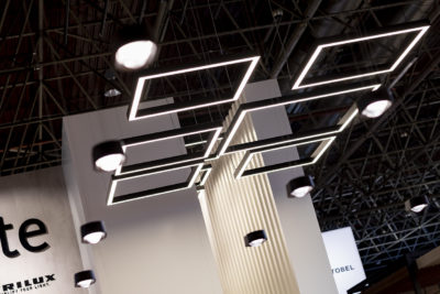 Image: Lamps on the ceiling; Copyright: Messe Düsseldorf