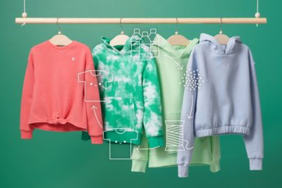 Four hoodies on a clothes rail