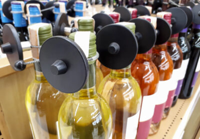 Several wine bottles with Rfid hard tag; copyright: PantherMedia / weerapat