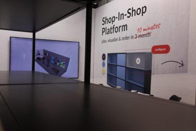 Bild: Visualisierung eines Shop-Designs; Copyright: iXtenso