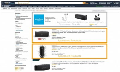 Screenshot von Amazon