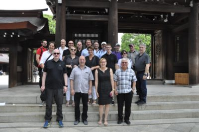 Group photo with the participants of the dlv tour in Tokyo; copyright: Dirk Kunze