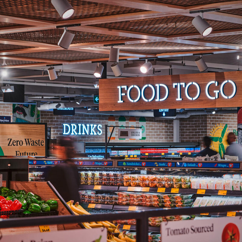 Convenience meals for direct consumption and drinks to go. © Kyle Ford at Corporate