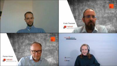 Vier Personen bei einer Videokonferenz; copyright: beta-web GmbH/iXtenso