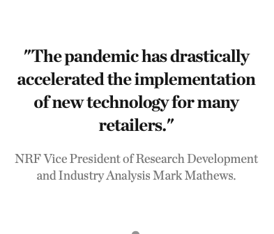 Quotation from NRF Vice President of Research Development and Industry Analysis Mark Mathews.