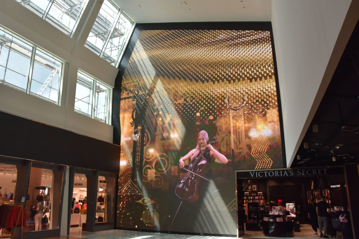 LED: optical illusion at the 'The Fashion Gallery' concept in Vienna International Airport