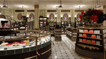 Deluxe Tradition: Harrods, the iconic department store presents new looks