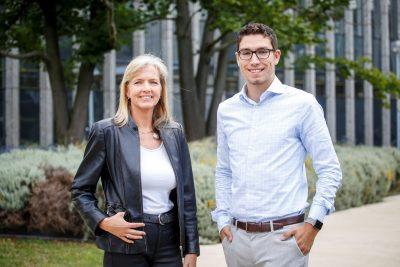 Dr. Cornelia Jokisch form EuroShop.mag team and Daniel Kranz from IBM Germany