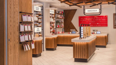 Newly designed kitkat chocolate store view inside