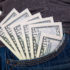 Dollar bills in a jeans pocket; copyright: panthermedia.net / Andriy Popov