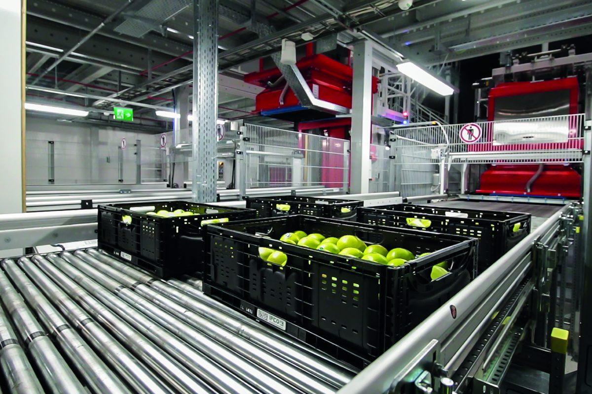 Erstmals Obst und Gemüse im vollautomatischen Lager