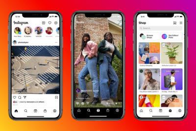 Drei Screenshots aus der Instagram-App