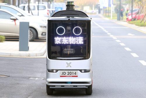 Autonomer Lieferroboter von JD.com im Einsatz