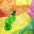 Disposable plastic bottle on plastic bags; copyright: Rawpixel