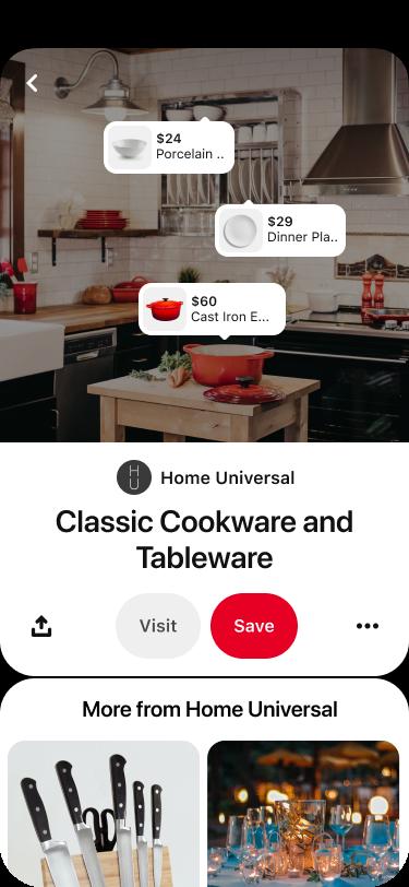 A screenshot from the Pinterest app