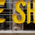 """The Selfridges Corner Shop from the outside with the Logo """"We shop"""""""