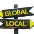 Wegweiser global und lokal