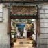 Entrance door to a shoe shop