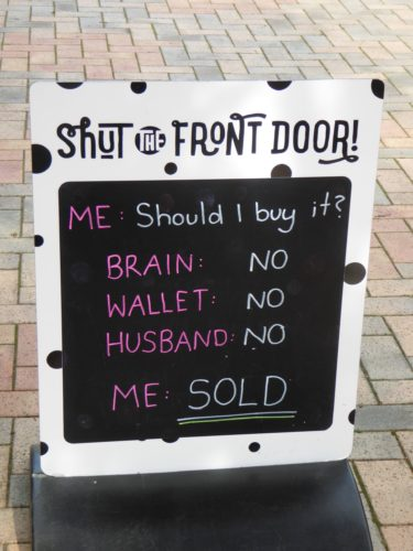 Funny Display in front of shut the door shop Newzealand