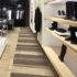 Fußboden mit Muster in einem Modegeschäft; copyright: Debolon Dessauer Bodenbeläge