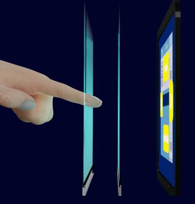Eine Grafik von einem Finger, der durch ein Sensorfeld fasst