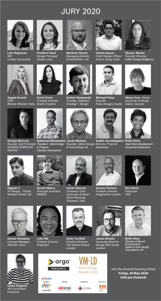 Jury of 12th Edition of VM&RD Retail Design Awards 2020