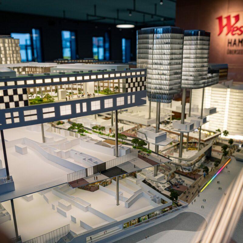 Modellbau des Einkaufszentrums; copyright: