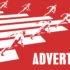 Sprinter at the start and term advertising; copyright: panthermedia.net / Kheng