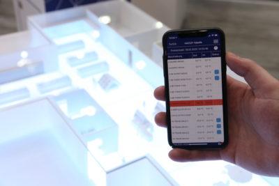 Bild: App zur mobilen Temperaturüberwachung; Copyright: iXtenso