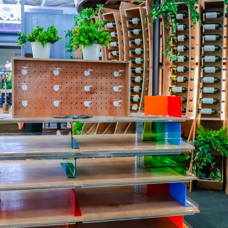 Wooden shelving furniture