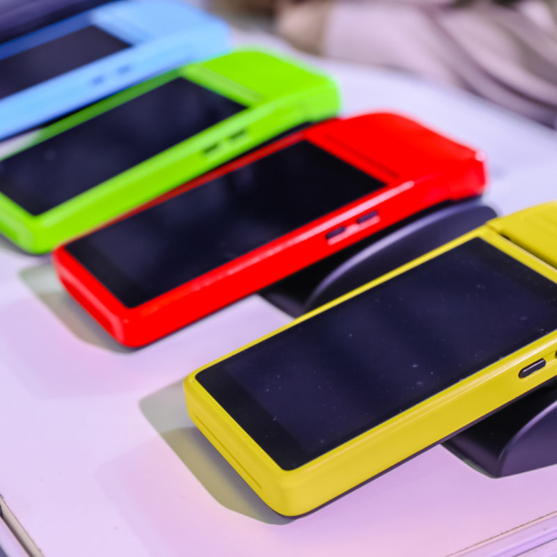 Mobile devices with different colored sleeves