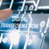 Ein digitaler Screen auf dem Digital Transformation steht