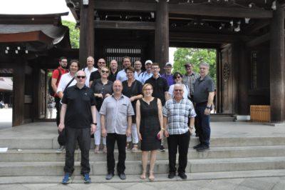 Gruppenfoto mit den Teilnehmern der dlv Tour in Tokio; copyright: Dirk Kunze