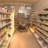 A robot between shelves at a drugstore
