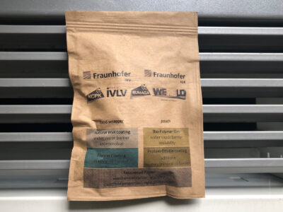Biobasierte Papierverpackung; copyright: Fraunhofer