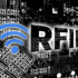 Virtual numbers and data with a Wifi logo and the word RFID