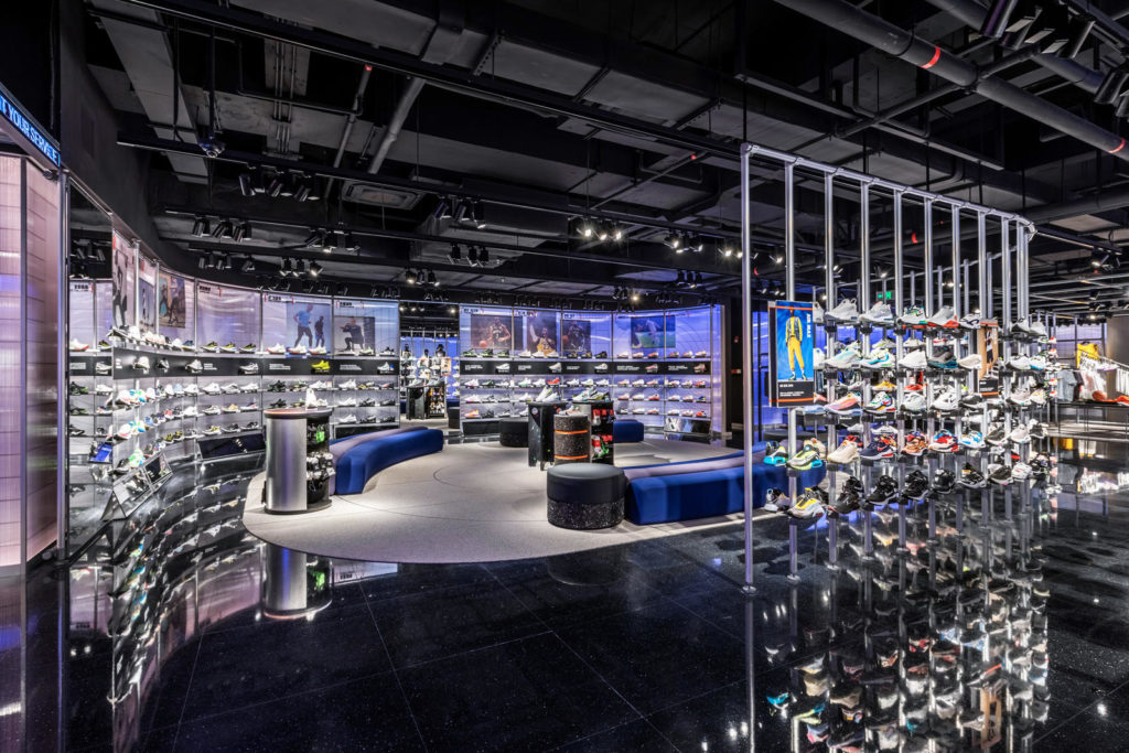 A nike store from the inside