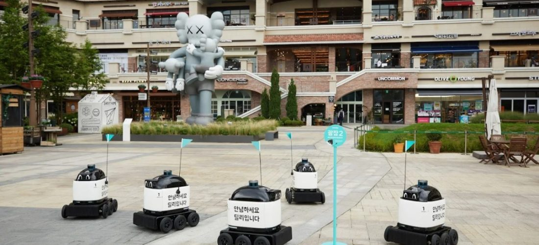 Baemin introduces an outdoor delivery robot in South Korea