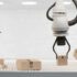3D rendering robot boxes and conveyor belt 3d illustration