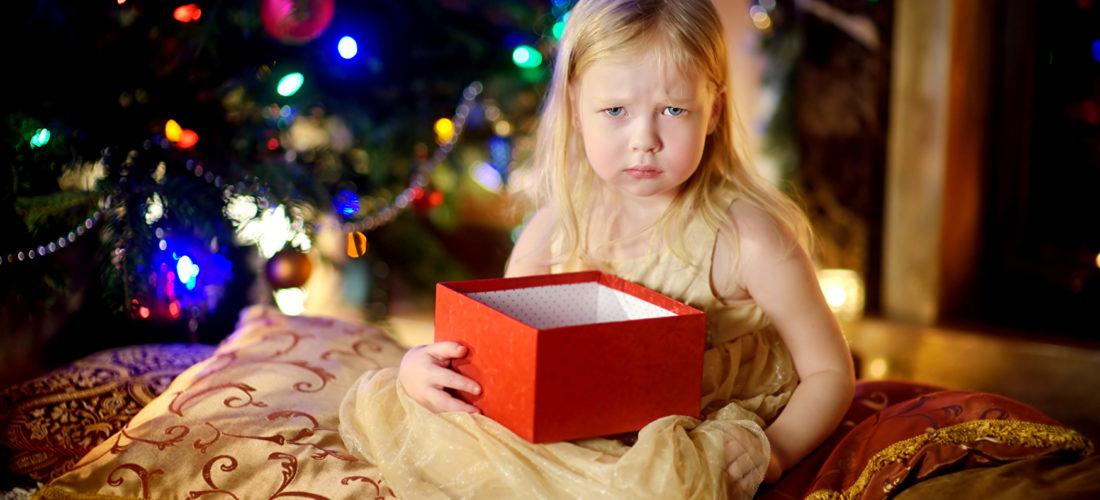 Enttäuschung unterm Weihnachtsbaum