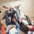 Young people lying around with skateboards; copyright: panthermedia.net / ArturVerkhovetskiy