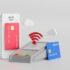 Kontaktloses Bezahlen über NFC-Technologie mit der Kreditkarte auf dem Smartphone