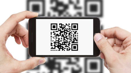 QR Code touch-free payment technology in CVS Pharmacy stores