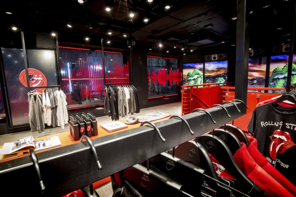 A view inside the Rolling Stone flagship store in London