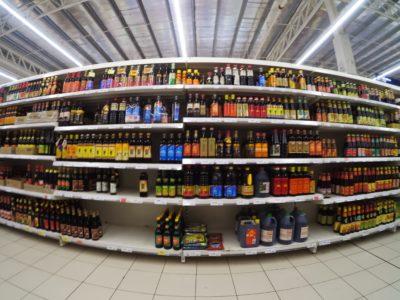 Supermarktregal in Fischaugen_Perspektive; copyright: Ellinnur Bakarudin